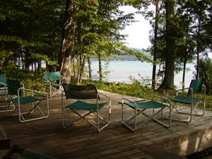 Deck and Waterfront, Glen Lake, Glen Arbor, MI